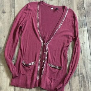 BKE Boutique Studded Cardigan